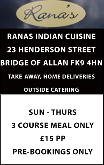 Offer from Ranas in Bridge of Allan